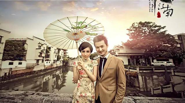 民国夜上海旗袍手绘