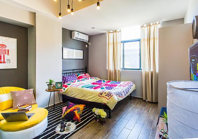宝安区-V客青年公寓桥头站-1室0厅1卫-35.0㎡